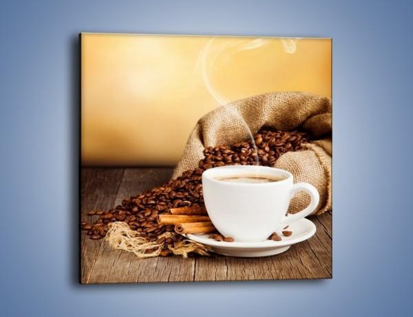 Obraz na płótnie – Zaproszenie na pogaduchy przy kawie – jednoczęściowy kwadratowy JN320