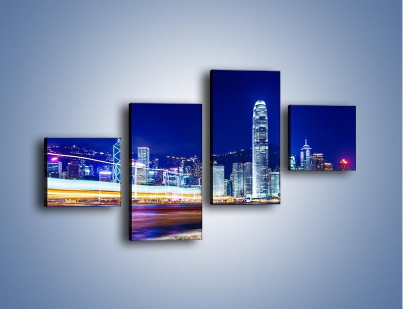 Obraz na płótnie – Panorama Hong Kongu – czteroczęściowy AM499W3