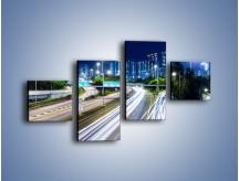 Obraz na płótnie – Autostrada prowadząca do Hong Kongu – czteroczęściowy AM504W3