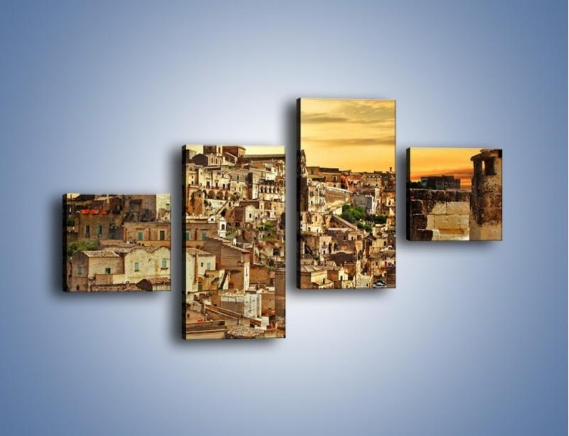 Obraz na płótnie – Matera – miasto wykute w skale – czteroczęściowy AM517W3