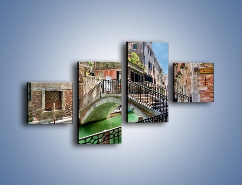 Obraz na płótnie – Wenecki most – czteroczęściowy AM523W3