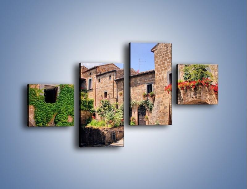 Obraz na płótnie – Romantyczna uliczka we Włoszech – czteroczęściowy AM533W3