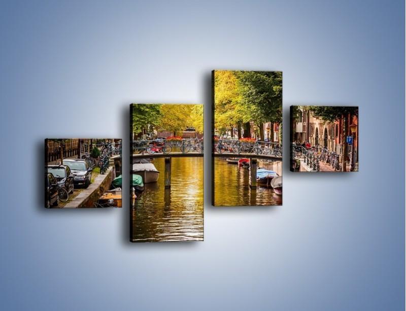 Obraz na płótnie – Most nad amsterdamskim kanałem – czteroczęściowy AM552W3