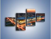 Obraz na płótnie – Centrum kongresowe CNCC w Chinach – czteroczęściowy AM575W3