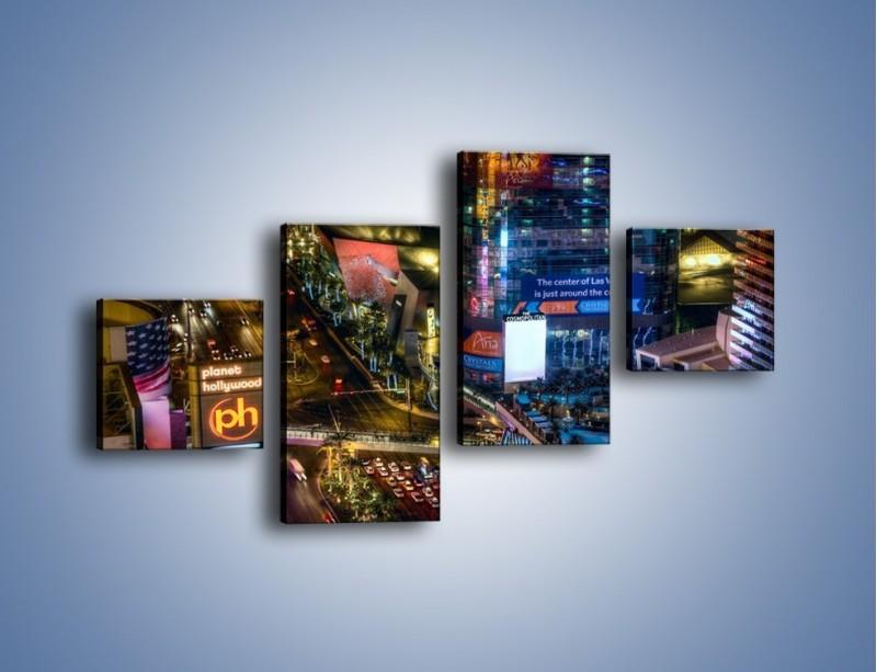 Obraz na płótnie – Cosmopolitan of Las Vegas – czteroczęściowy AM577W3