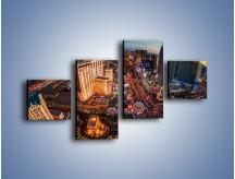 Obraz na płótnie – Centrum Las Vegas – czteroczęściowy AM588W3