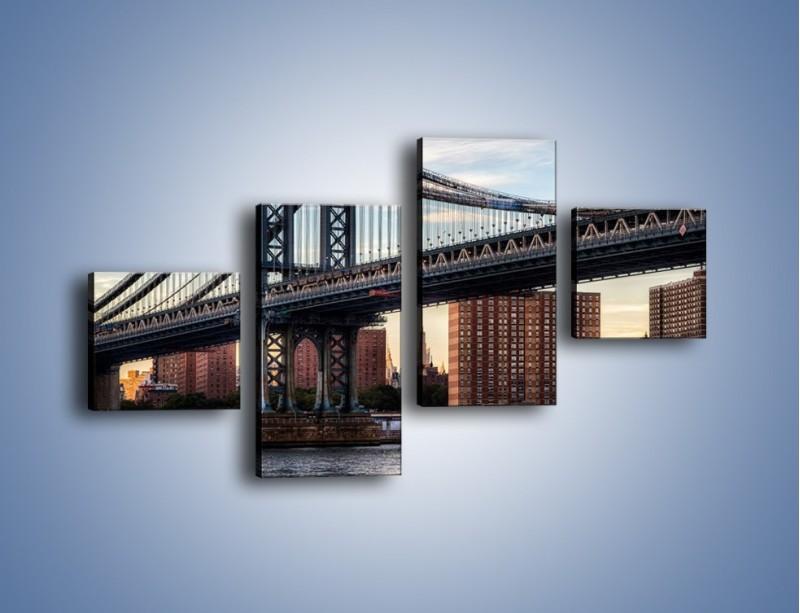 Obraz na płótnie – Manhattan Bridge – czteroczęściowy AM607W3