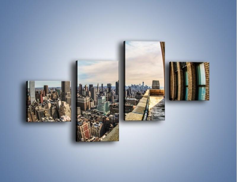 Obraz na płótnie – Empire State Building na Manhattanie – czteroczęściowy AM610W3