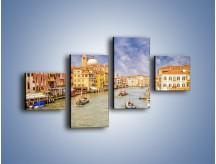 Obraz na płótnie – Canal Grande w Wenecji o poranku – czteroczęściowy AM617W3