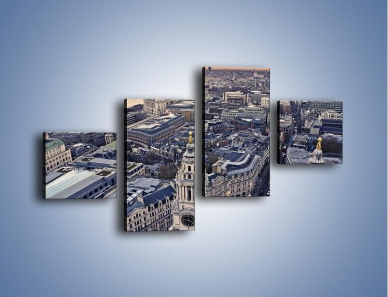 Obraz na płótnie – Widok na Londyn z Katedry św. Pawła – czteroczęściowy AM652W3