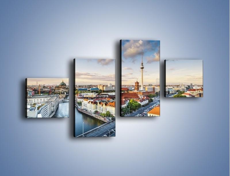 Obraz na płótnie – Panorama Berlina – czteroczęściowy AM673W3