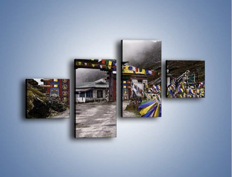 Obraz na płótnie – Brama do miasta Tawang w Tybecie – czteroczęściowy AM689W3