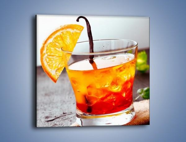Obraz na płótnie – Pomarańczowy drink na wieczór – jednoczęściowy kwadratowy JN323