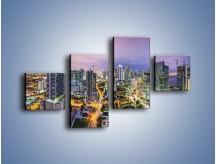 Obraz na płótnie – Centrum Miami – czteroczęściowy AM702W3