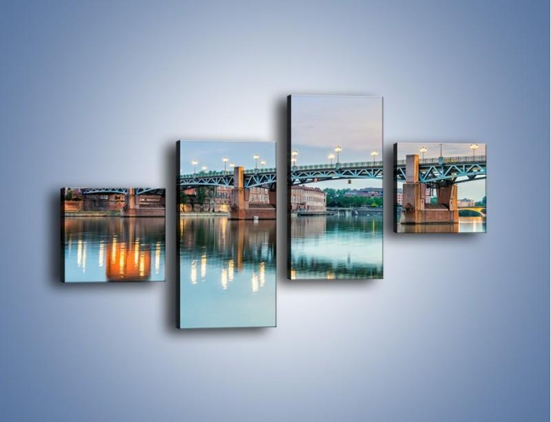 Obraz na płótnie – Most Saint-Pierre w Tuluzie – czteroczęściowy AM721W3