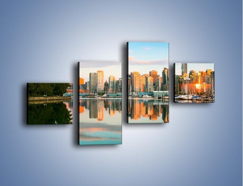 Obraz na płótnie – Widok na Vancouver – czteroczęściowy AM765W3