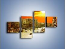 Obraz na płótnie – Zachód słońca nad Wenecją – czteroczęściowy AM792W3