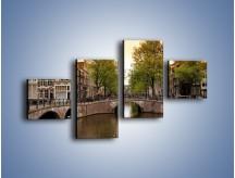 Obraz na płótnie – Amsterdamski kanał – czteroczęściowy AM800W3
