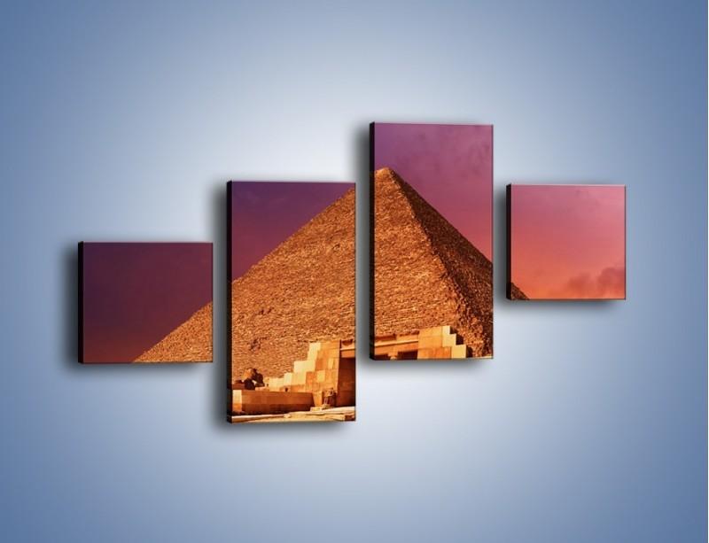 Obraz na płótnie – Piramida w Egipcie – czteroczęściowy AM812W3