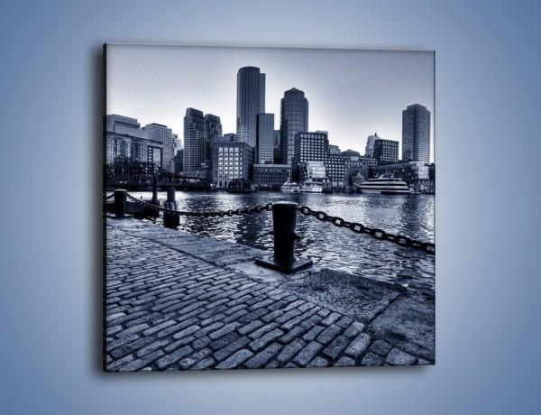 Obraz na płótnie – Wybrukowana wybrzeże miasta – jednoczęściowy kwadratowy AM132