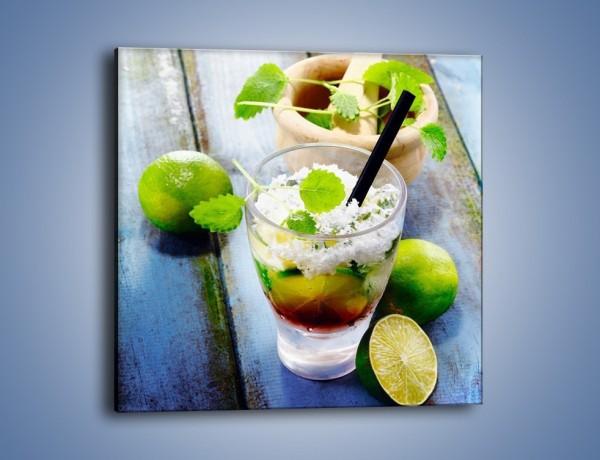 Obraz na płótnie – Limonkowy drink z miętą – jednoczęściowy kwadratowy JN325