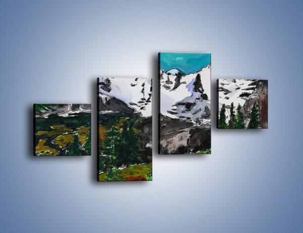 Obraz na płótnie – Góry i ich roślinność – czteroczęściowy GR038W3