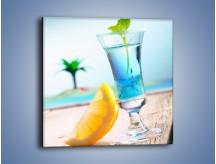 Obraz na płótnie – Blue curacao z miętą – jednoczęściowy kwadratowy JN326