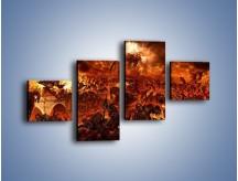 Obraz na płótnie – Bitwa z demonami – czteroczęściowy GR137W3