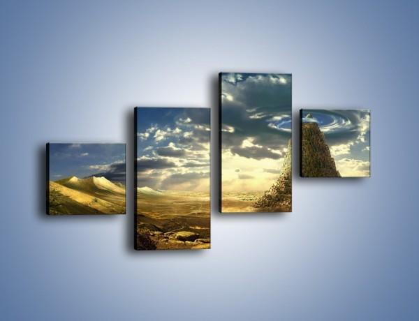 Obraz na płótnie – Przez górę aż do chmur – czteroczęściowy GR139W3