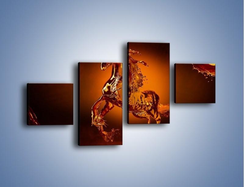 Obraz na płótnie – Wodny koń w mocnym świetle – czteroczęściowy GR228W3