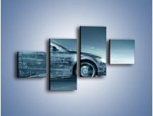 Obraz na płótnie – Auto z prędkością światła – czteroczęściowy GR264W3