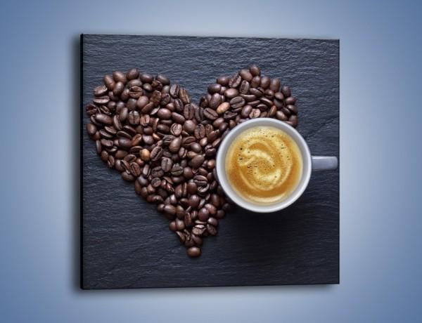 Obraz na płótnie – Miłość do czarnej kawy – jednoczęściowy kwadratowy JN328