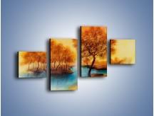 Obraz na płótnie – Drzewa nad samą wodą – czteroczęściowy GR352W3