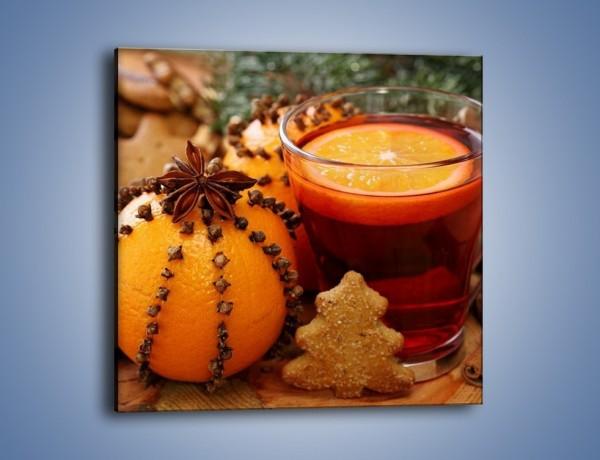 Obraz na płótnie – Jesienny wieczór z herbatą – jednoczęściowy kwadratowy JN329