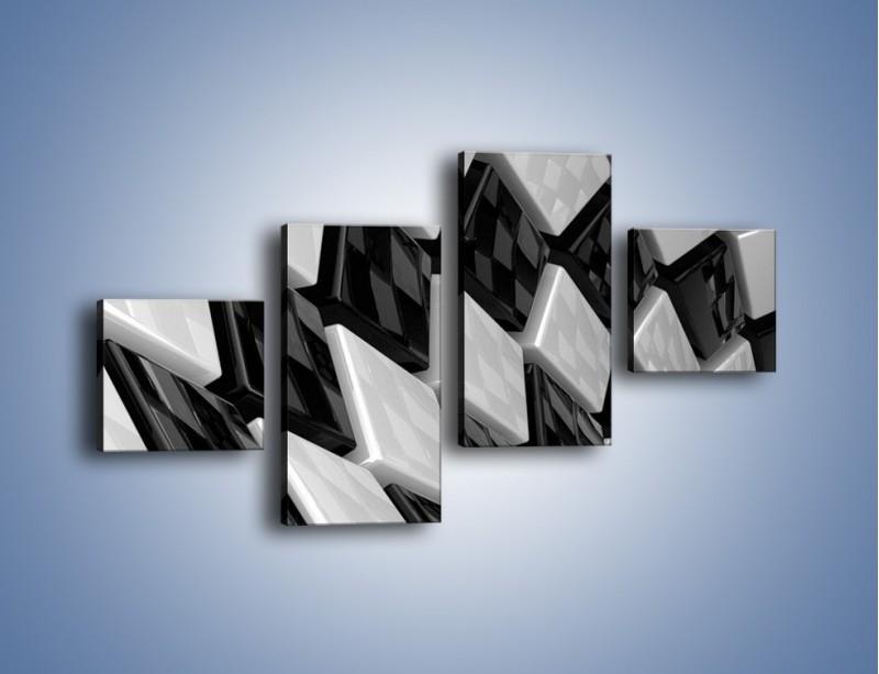 Obraz na płótnie – Czarne czy białe – czteroczęściowy GR425W3