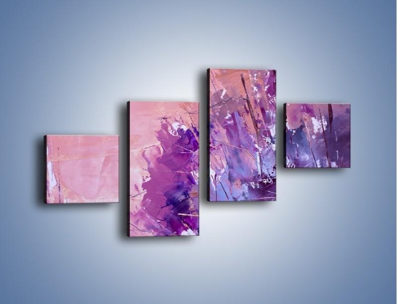 Obraz na płótnie – Mocna barwa fioletu – czteroczęściowy GR472W3