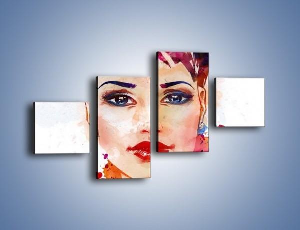 Obraz na płótnie – Piękna kobieta w kolorze – czteroczęściowy GR499W3