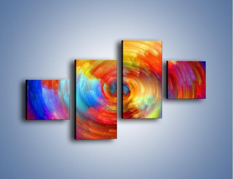 Obraz na płótnie – Kolorowy wir – czteroczęściowy GR502W3