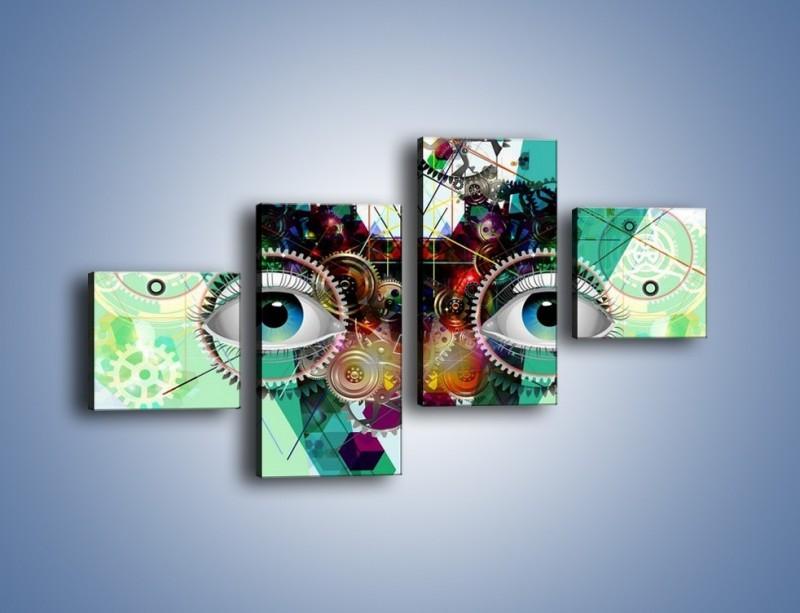 Obraz na płótnie – Mechanicznie otwarte oczy – czteroczęściowy GR504W3