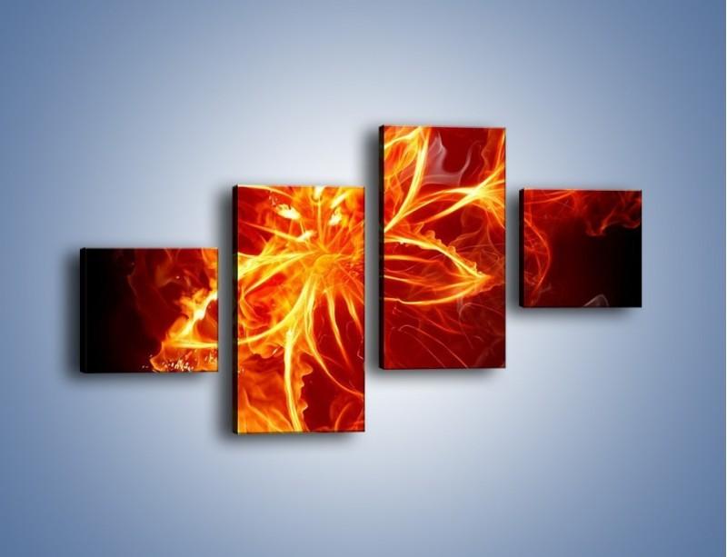 Obraz na płótnie – Spłonąć jak kwiat – czteroczęściowy GR527W3