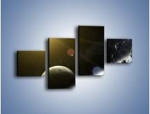 Obraz na płótnie – Dotrzeć między planety – czteroczęściowy GR534W3