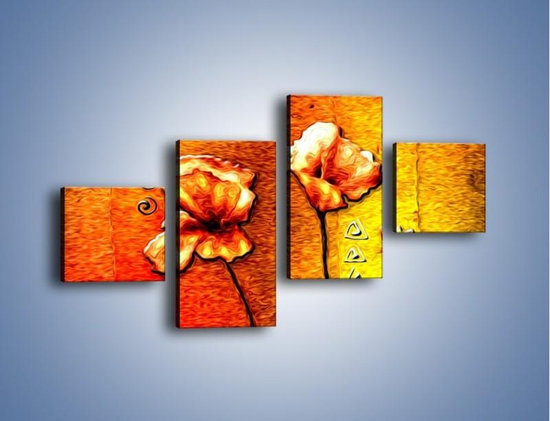Obraz na płótnie – Maki z dodatkami – czteroczęściowy GR574W3