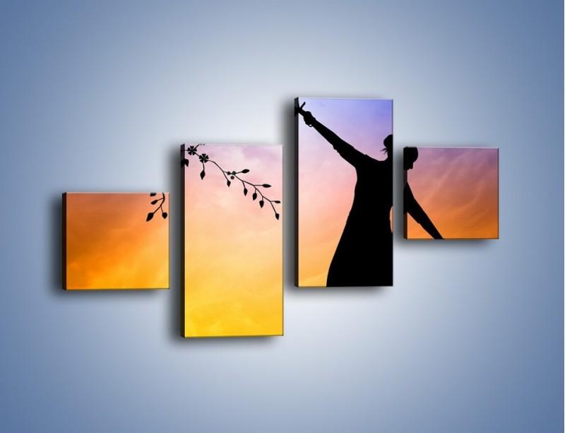 Obraz na płótnie – Wieczorny cygański taniec – czteroczęściowy GR597W3