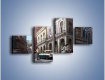 Obraz na płótnie – Codzienne życie na kubie – czteroczęściowy GR627W3