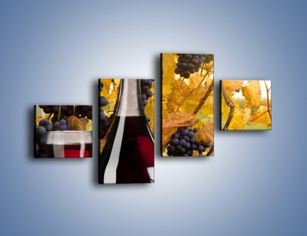 Obraz na płótnie – Wino wśród winogron – czteroczęściowy JN007W3