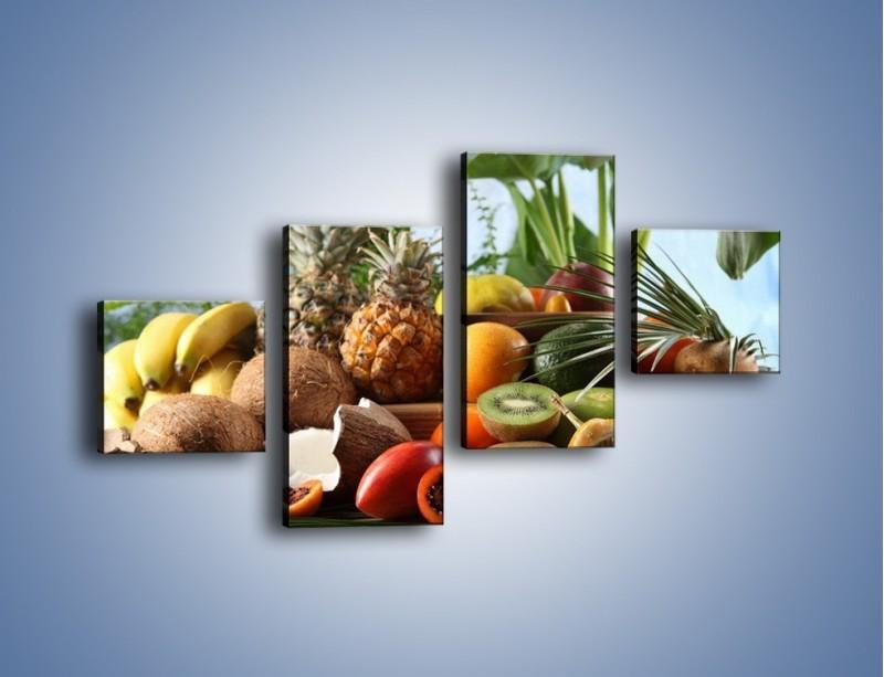 Obraz na płótnie – Mix owocowy na drewnianym stole – czteroczęściowy JN009W3
