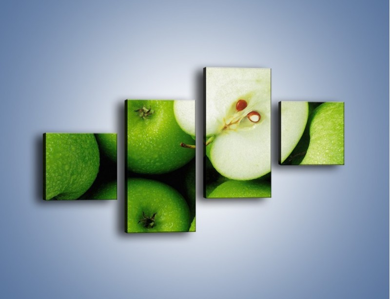Obraz na płótnie – Zielone jabłuszka – czteroczęściowy JN039W3