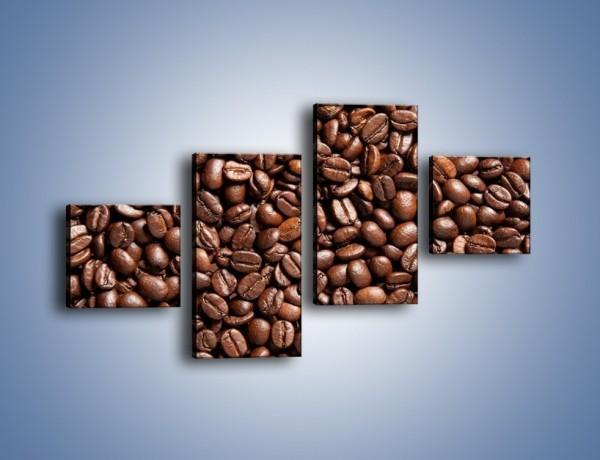 Obraz na płótnie – Ziarna świeżej kawy – czteroczęściowy JN061W3