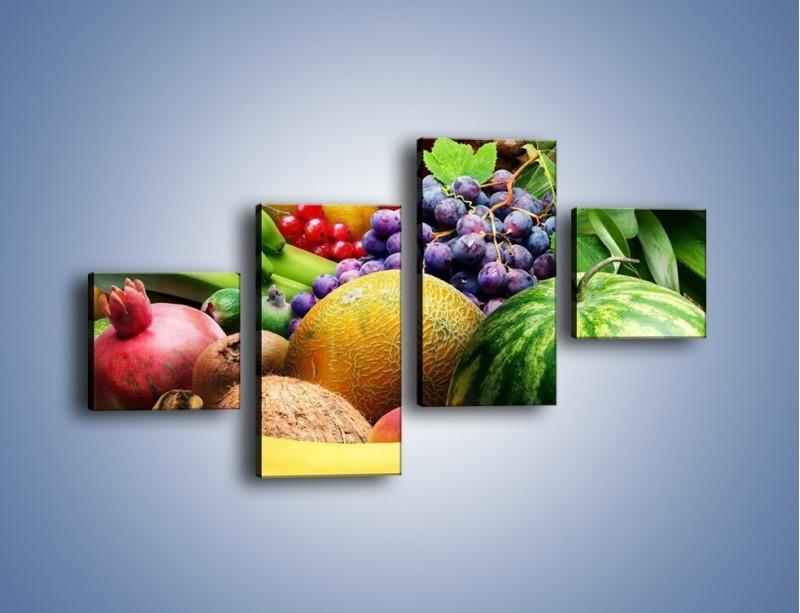 Obraz na płótnie – Stół pełen dojrzałych owoców – czteroczęściowy JN072W3