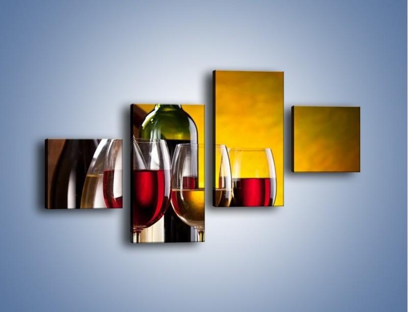 Obraz na płótnie – Wino z orzechami – czteroczęściowy JN077W3